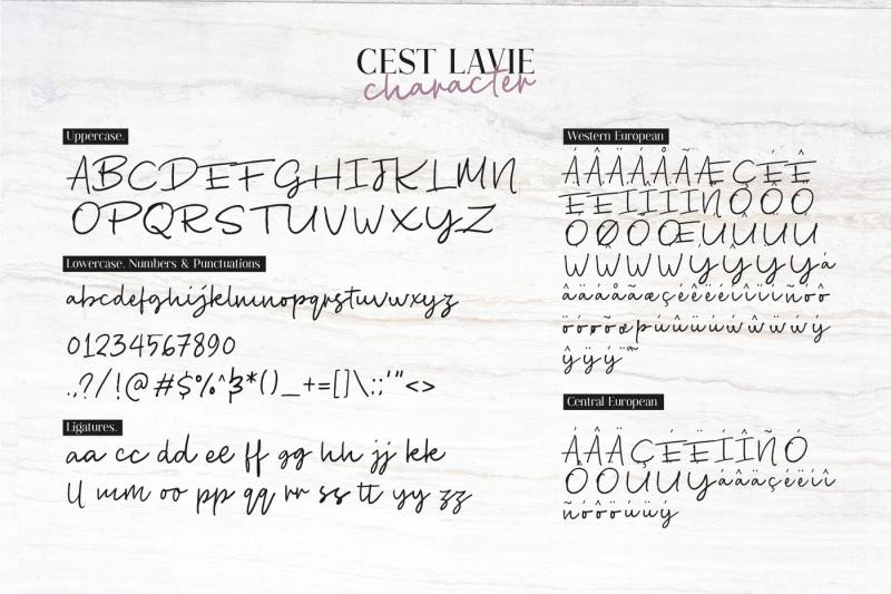 cest-lavie-font-duo