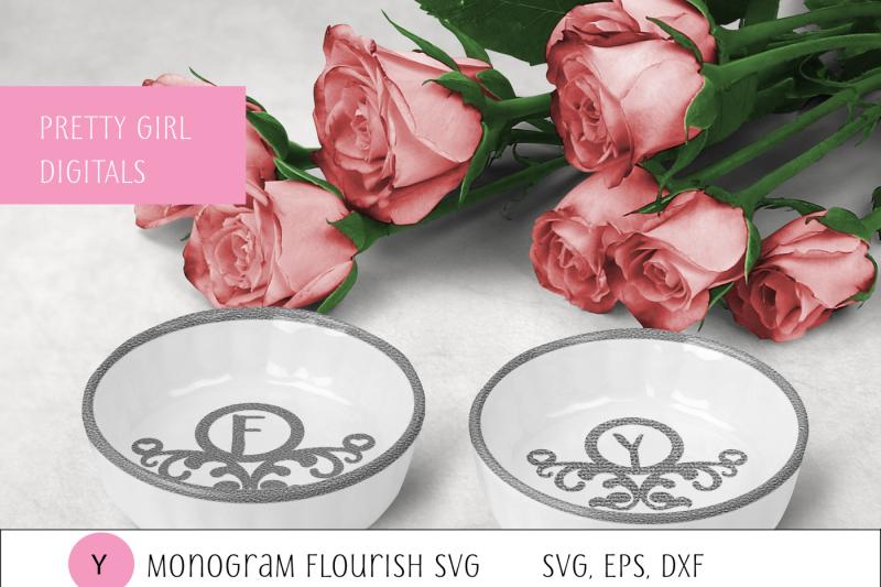 monogram-y-flourish-frame
