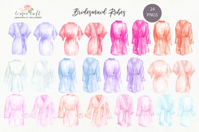 watercolor-bridesmaid-robe-clipart