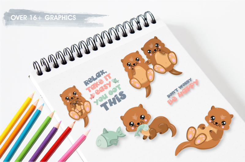 happy-otters-graphics-illustrations