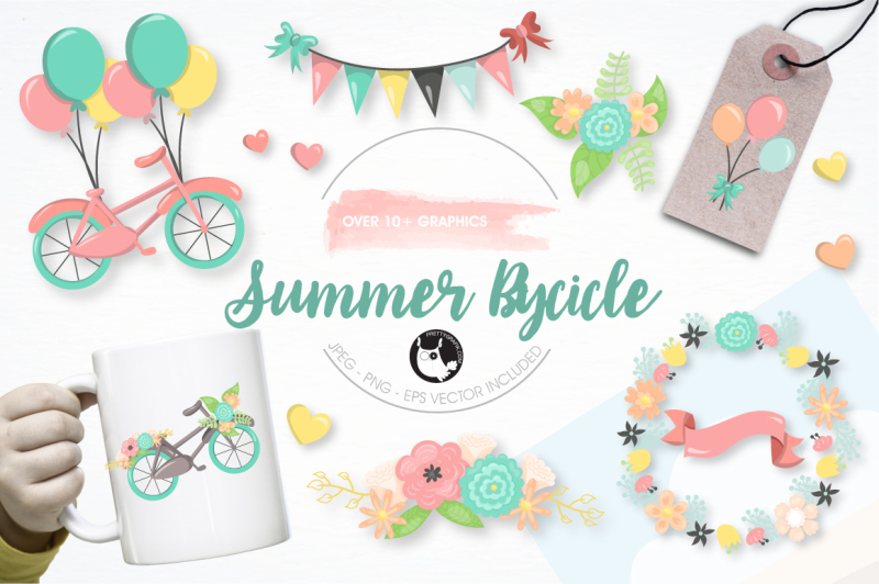 summer-bicycle-graphics-and-illustrations