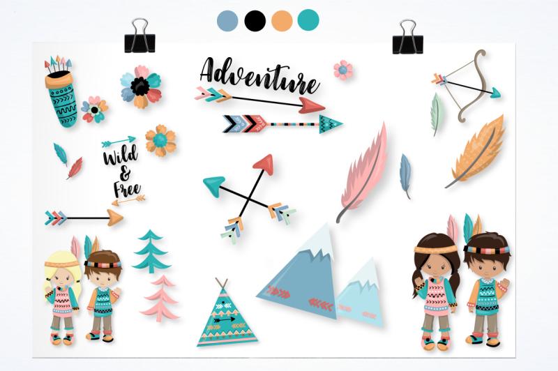 tribal-kids-graphics-and-illustrations