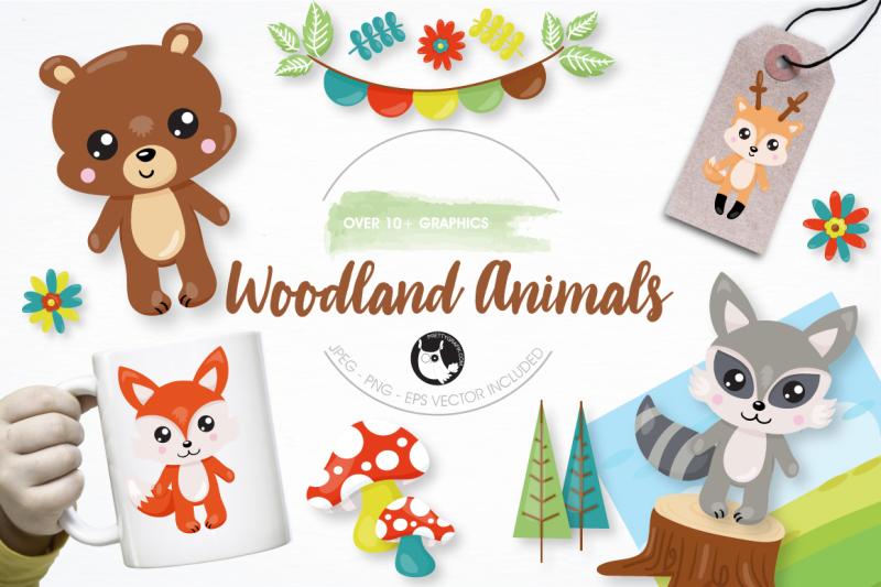 woodland-animals-graphics-and-illustrations