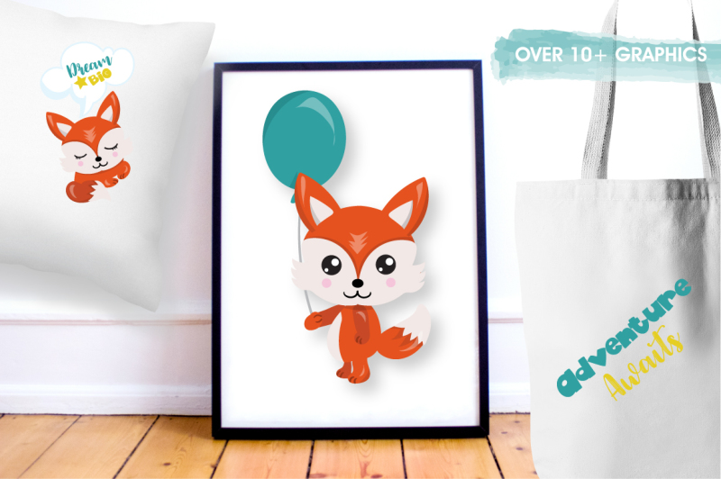 woodland-fox-graphics-and-illustrations