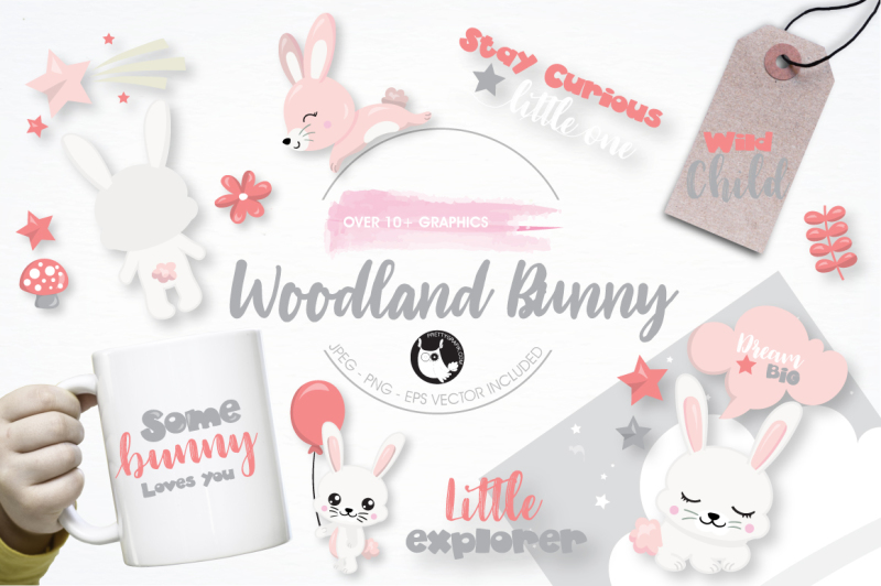 woodland-bunny-graphics-and-illustrations