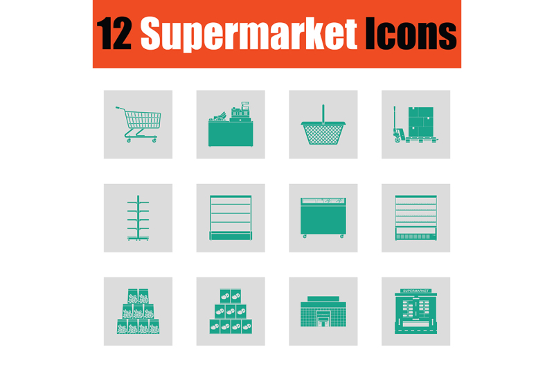 supermarket-icon-set