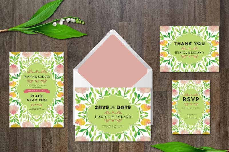 wedding-suite-watercolor-flower