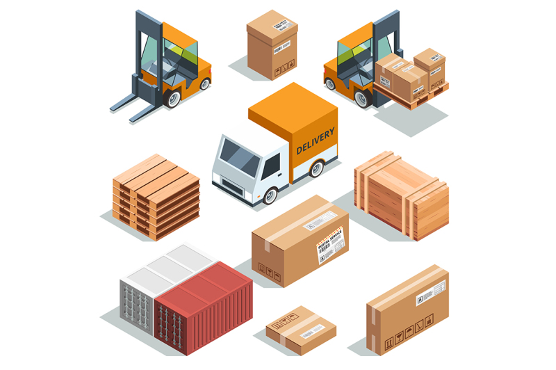 isometric-industry-machine-for-lading-freight-and-different-boxes