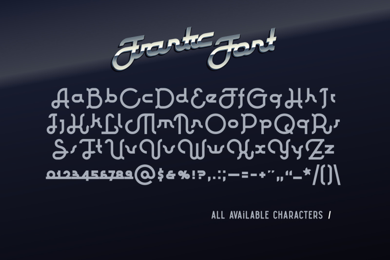 frantic-font-and-style