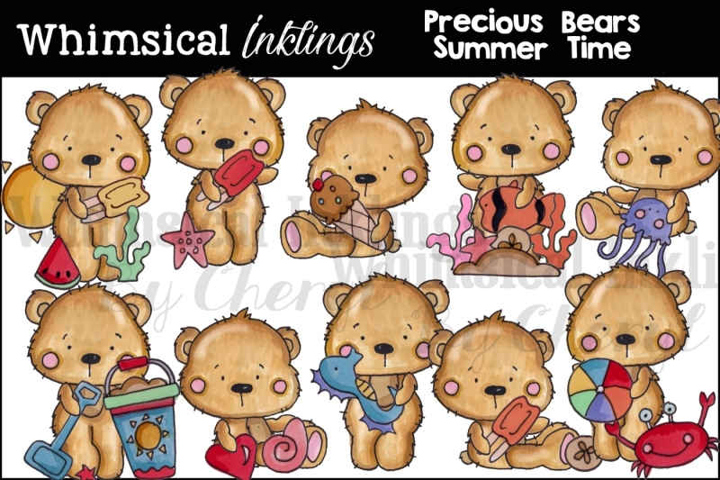 precious-bears-summer-time-clipart-set