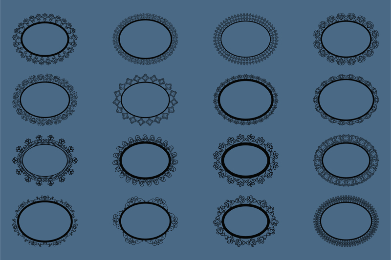 black-lacy-round-and-oval-frames