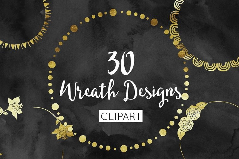gold-foil-wreath-clipart-wreath-clipart-design