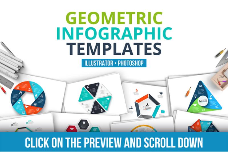 geometric-infographic-templates