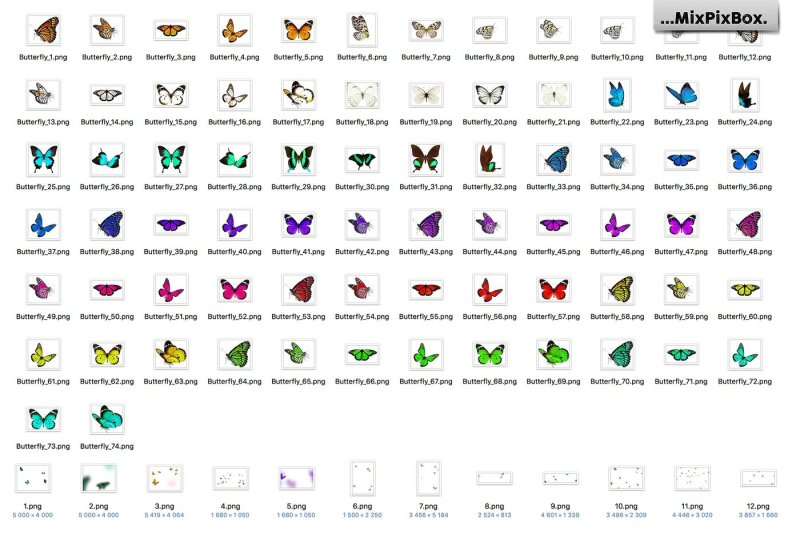 butterflies-photo-overlays