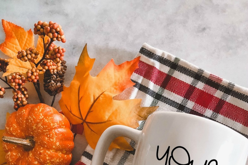Download Fall Coffee Mug Mockup  Free Mockups