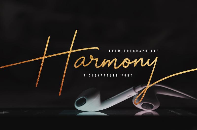 harmony-script-font