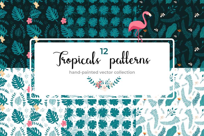 tropical-design-graphics-bundle