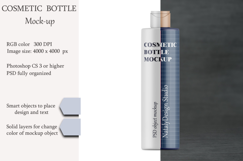 Free Cosmetic bottle mockup. Product mockup. (PSD Mockups)