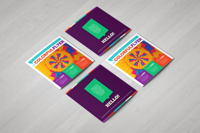 colorful-square-brochure-template