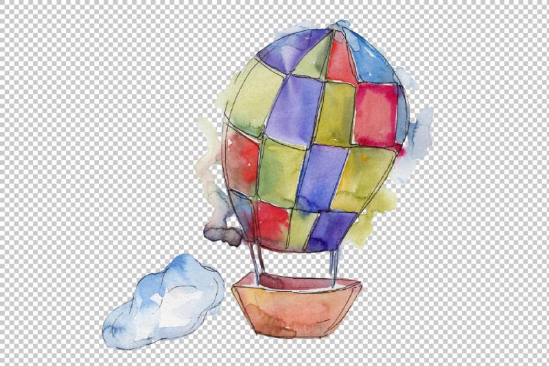 watercolor-hot-air-balloon-png-set