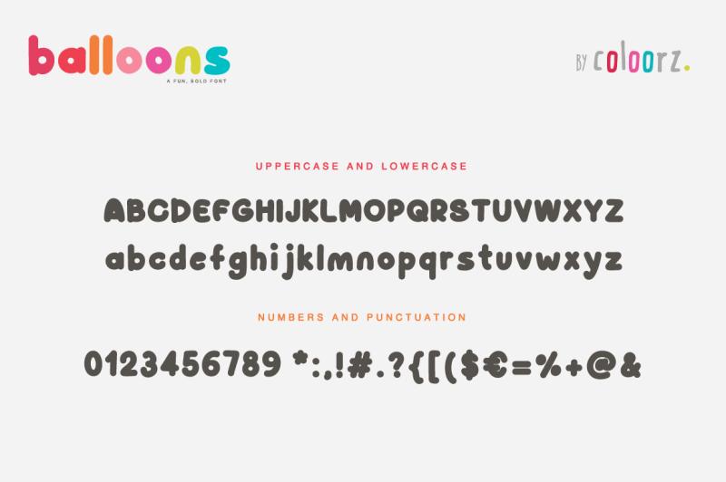 balloons-font