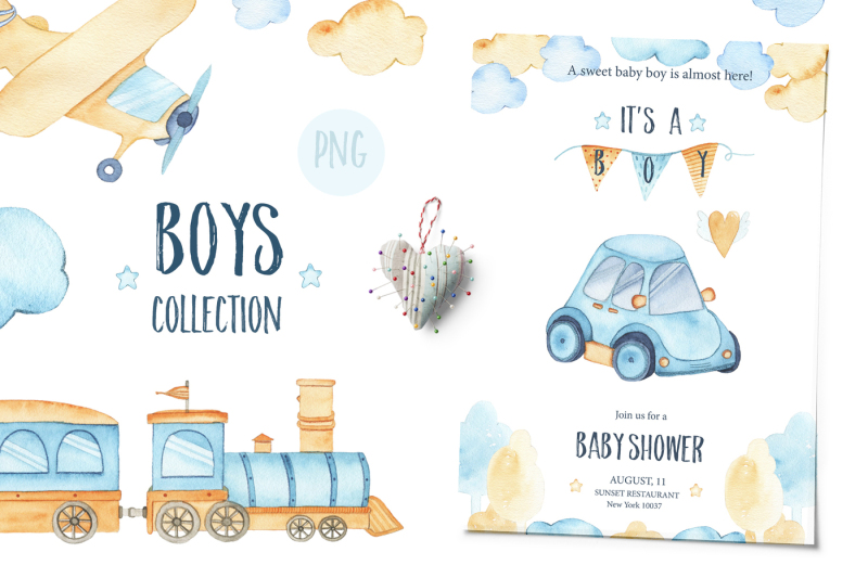 it-s-a-boy-watercolor-collection