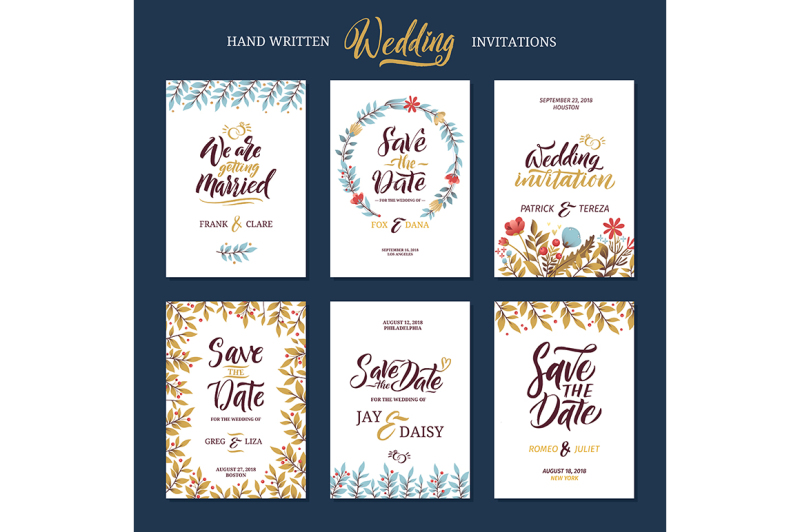 invitation-cards-for-wedding-with-calligraphy-words