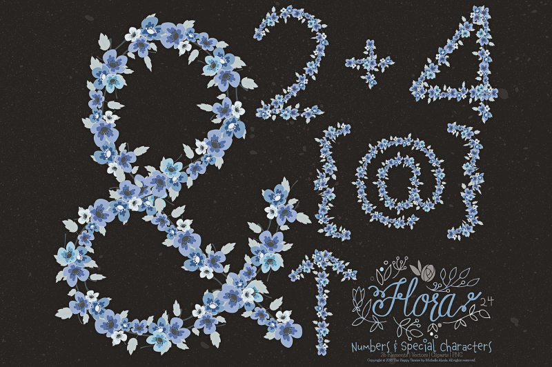flower-numbers-amp-special-characters-clipart-amp-vector-ndash-flora-24