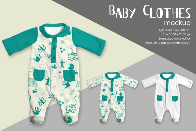 Free Baby Clothes Mockup (PSD Mockups)