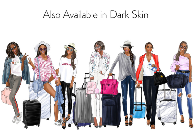 watercolor-fashion-clipart-girls-travelling-2-light-skin