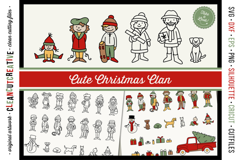 cute-christmas-clan-christmas-family-characters-cutfiles