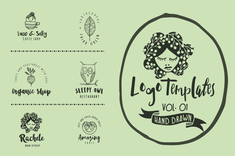 feminine-premade-hand-drawn-logo-vol-01