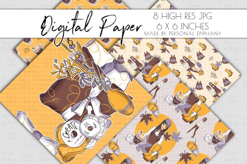 fall-digital-paper-planner-girl-background-autumn-pattern-fashion