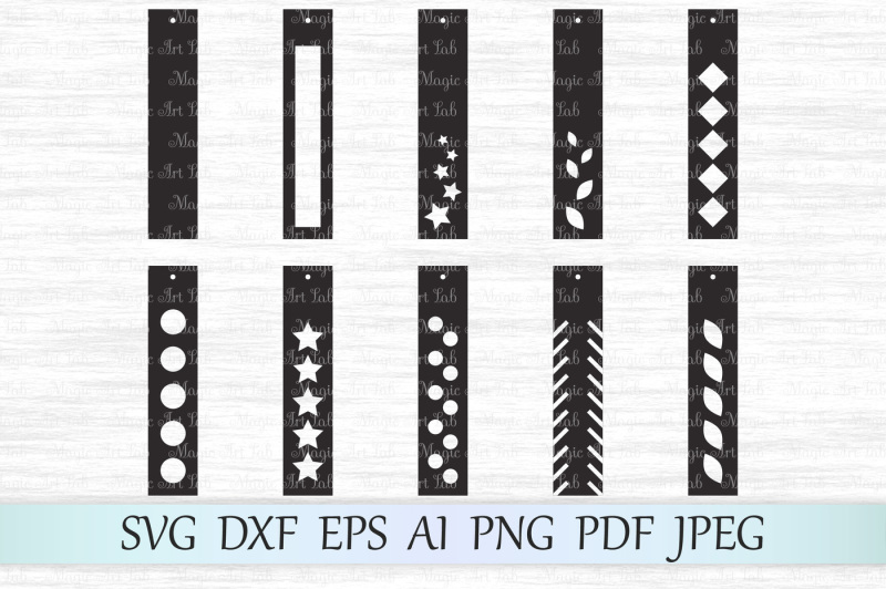 rectangle-earrings-svg-earrings-cut-file-earrings-silhouette-dxf
