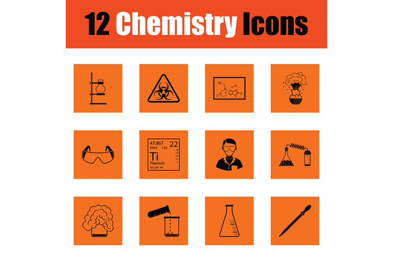 chemistry-icon-set