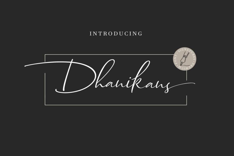 dhanikans-signature-font-duo