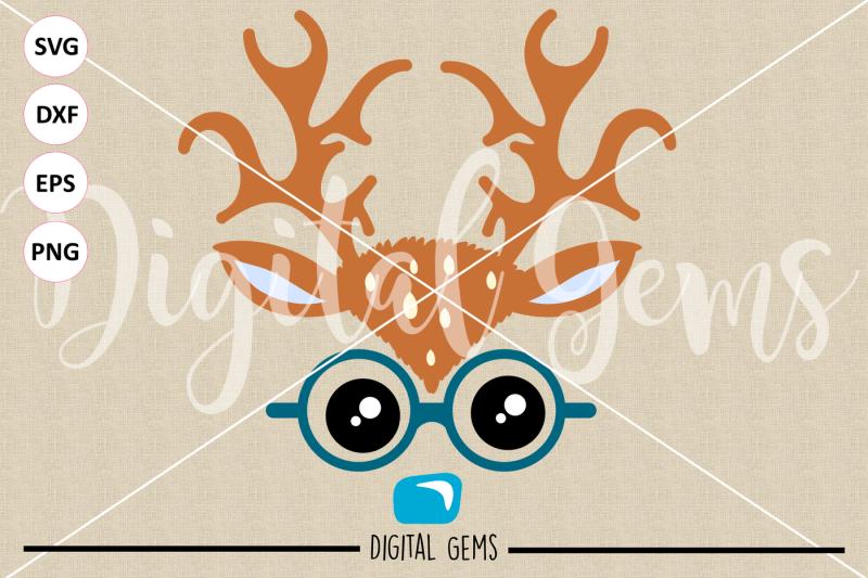 reindeer-face-svg-dxf-eps-png-files
