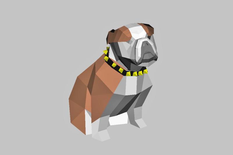 diy-bulldog-3d-papercraft