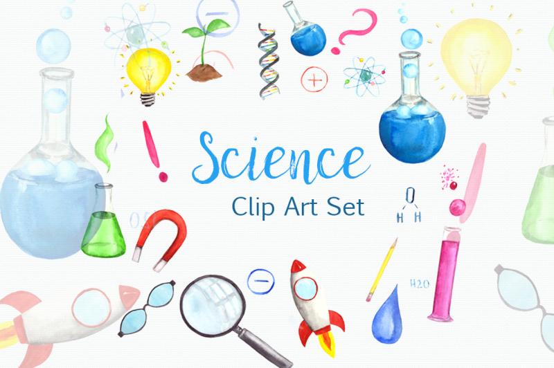 science-time-clip-art-set