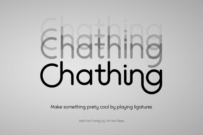 chathing-sans-geometric-font