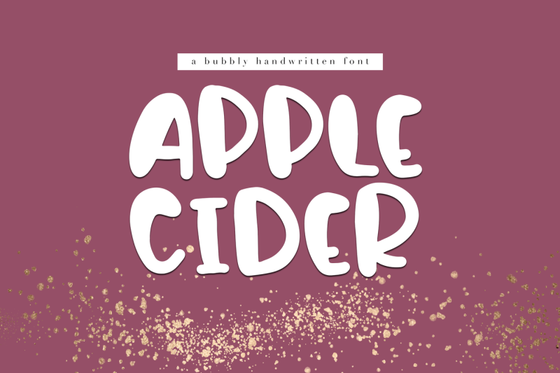 apple-cider-a-bubbly-handwritten-font