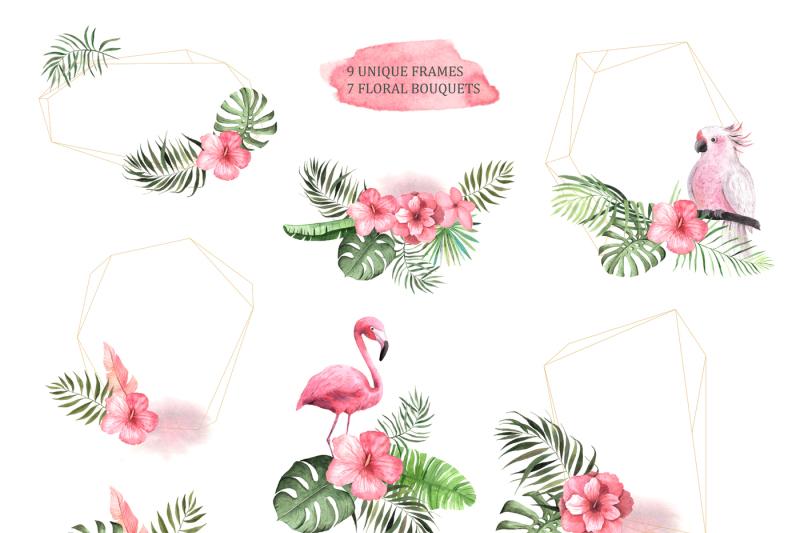 watercolor-vintage-tropical-set