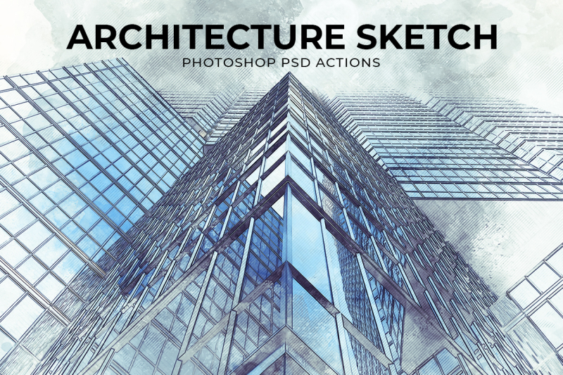 architecture-sketch-photoshop-psd-action-template