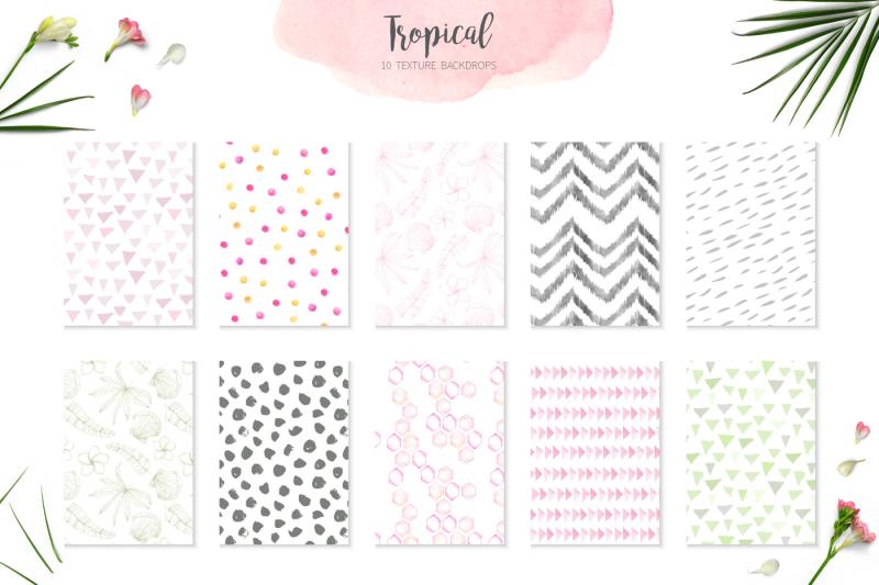 15-watercolor-tropical-patterns-set