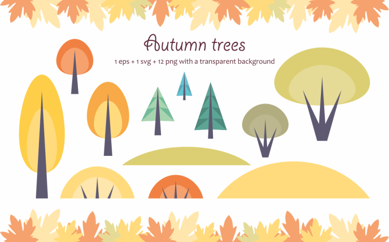 autumn-woodland-vector-animals-and-plants