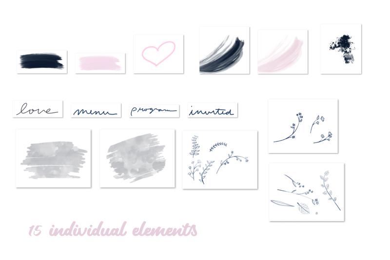 26-blush-and-navy-invitation-elements