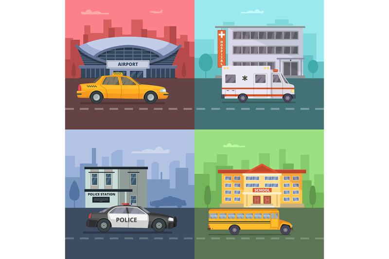 background-illustrations-with-different-municipal-transport