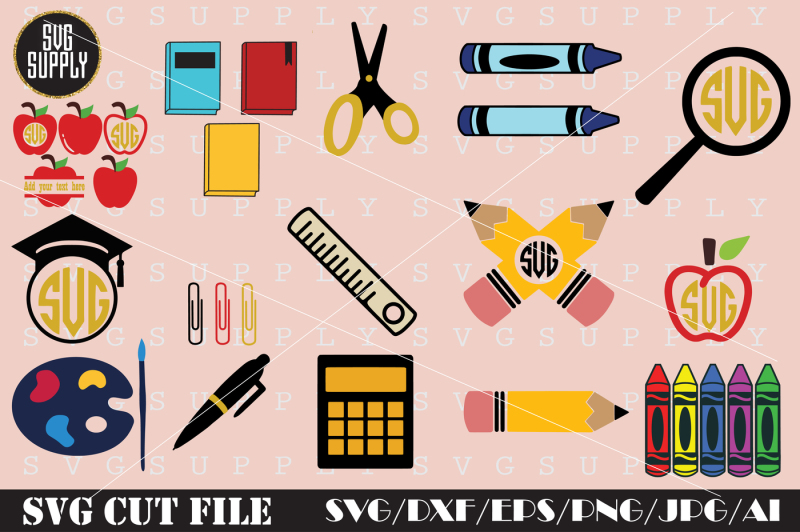 school-set-svg-cut-file