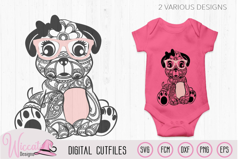 paisley-pug-svg-girl-pug-svg-doodle-dog-svg-hipster-pug-zentangle