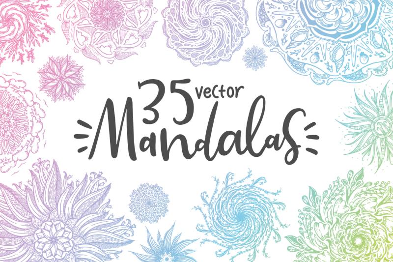 35-vector-mandalas